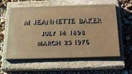 BAKER, MARGUERITE JEANNETTE - Yavapai County, Arizona | MARGUERITE JEANNETTE BAKER - Arizona Gravestone Photos