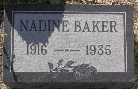BAKER, NADINE - Yavapai County, Arizona | NADINE BAKER - Arizona Gravestone Photos