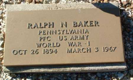 BAKER, RALPH NORMAN - Yavapai County, Arizona   RALPH NORMAN BAKER - Arizona Gravestone Photos