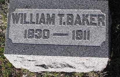 BAKER, WILLIAM T. - Yavapai County, Arizona   WILLIAM T. BAKER - Arizona Gravestone Photos