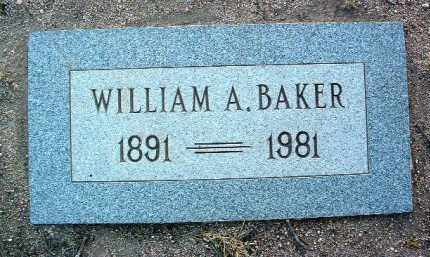 BAKER, WILLIAM ALFONSO - Yavapai County, Arizona   WILLIAM ALFONSO BAKER - Arizona Gravestone Photos
