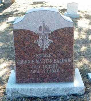 BALDWIN, JOHNNIE MARTIN - Yavapai County, Arizona   JOHNNIE MARTIN BALDWIN - Arizona Gravestone Photos