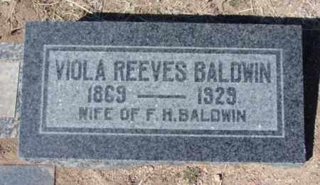 REEVES BALDWIN, VIOLA B. - Yavapai County, Arizona | VIOLA B. REEVES BALDWIN - Arizona Gravestone Photos