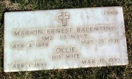 OAKS BALENTINE, OLLIE ULA - Yavapai County, Arizona | OLLIE ULA OAKS BALENTINE - Arizona Gravestone Photos