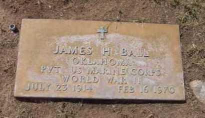 BALL, JAMES H. - Yavapai County, Arizona   JAMES H. BALL - Arizona Gravestone Photos
