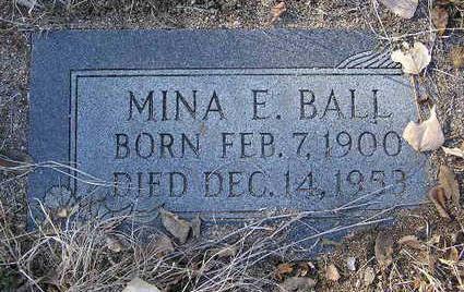 SERFACE BALL, MINA E. - Yavapai County, Arizona | MINA E. SERFACE BALL - Arizona Gravestone Photos