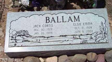 BALLAM, ELSIE EMMA - Yavapai County, Arizona | ELSIE EMMA BALLAM - Arizona Gravestone Photos