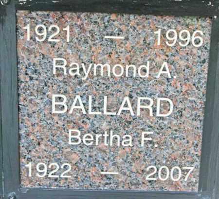BALLARD, RAYMOND A. - Yavapai County, Arizona | RAYMOND A. BALLARD - Arizona Gravestone Photos