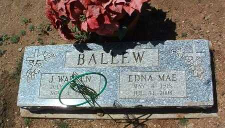 BALLEW, EDNA MAE - Yavapai County, Arizona | EDNA MAE BALLEW - Arizona Gravestone Photos