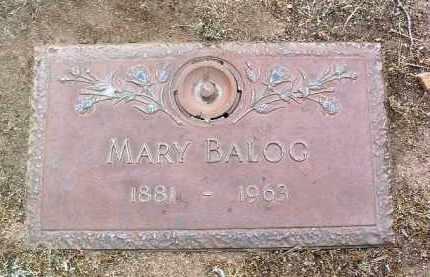 BALOG, MARY - Yavapai County, Arizona   MARY BALOG - Arizona Gravestone Photos