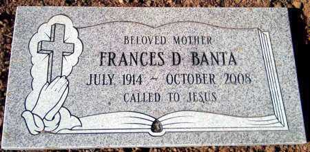BANTA, FRANCES D. - Yavapai County, Arizona | FRANCES D. BANTA - Arizona Gravestone Photos