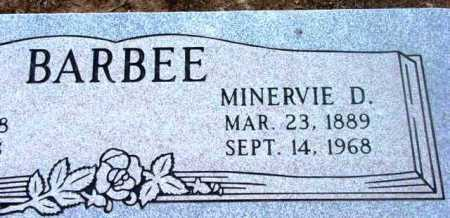 ORANGE BARBEE, MINERVA DOVE (MINERVIE - Yavapai County, Arizona | MINERVA DOVE (MINERVIE ORANGE BARBEE - Arizona Gravestone Photos