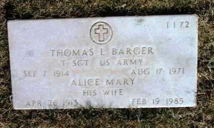 SMITH BARGER, ALICE MARY - Yavapai County, Arizona | ALICE MARY SMITH BARGER - Arizona Gravestone Photos