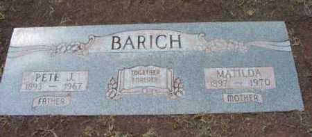 BARICH, PETER JOHN - Yavapai County, Arizona   PETER JOHN BARICH - Arizona Gravestone Photos