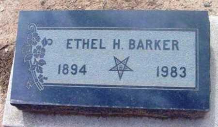 BARKER, ETHEL H. - Yavapai County, Arizona | ETHEL H. BARKER - Arizona Gravestone Photos