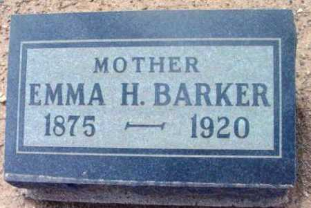 BARKER, EMMA H. - Yavapai County, Arizona | EMMA H. BARKER - Arizona Gravestone Photos