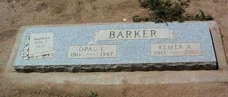 BARKER, ELMER A. - Yavapai County, Arizona | ELMER A. BARKER - Arizona Gravestone Photos