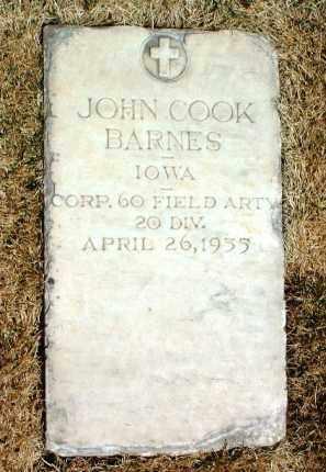 BARNES, JOHN COOK - Yavapai County, Arizona | JOHN COOK BARNES - Arizona Gravestone Photos