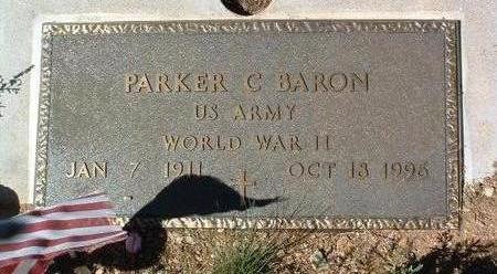 BARON, PARKER C. - Yavapai County, Arizona   PARKER C. BARON - Arizona Gravestone Photos