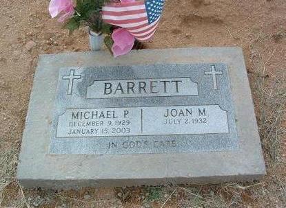 BARRETT, MICHAEL P. - Yavapai County, Arizona | MICHAEL P. BARRETT - Arizona Gravestone Photos