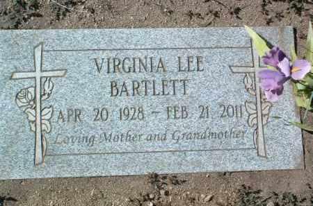 BARTLETT, VIRGINIA LEE - Yavapai County, Arizona | VIRGINIA LEE BARTLETT - Arizona Gravestone Photos