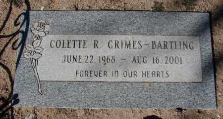 GRIMES BARTLING, COLETTE R. - Yavapai County, Arizona | COLETTE R. GRIMES BARTLING - Arizona Gravestone Photos