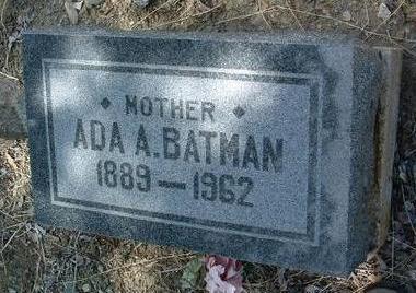DECKER BATMAN, ADA ALICE - Yavapai County, Arizona | ADA ALICE DECKER BATMAN - Arizona Gravestone Photos