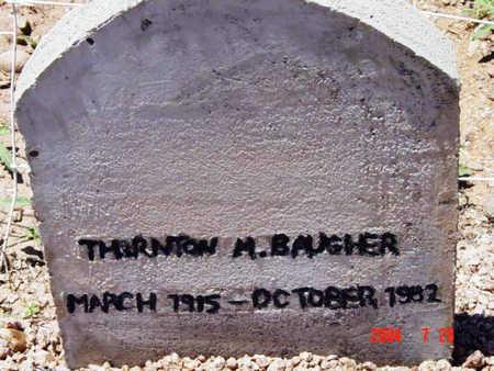 BAUGHER, THORNTON MERLIN - Yavapai County, Arizona | THORNTON MERLIN BAUGHER - Arizona Gravestone Photos