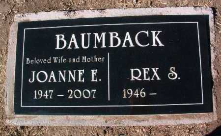 BAUMBACK, JOANNE E. - Yavapai County, Arizona | JOANNE E. BAUMBACK - Arizona Gravestone Photos