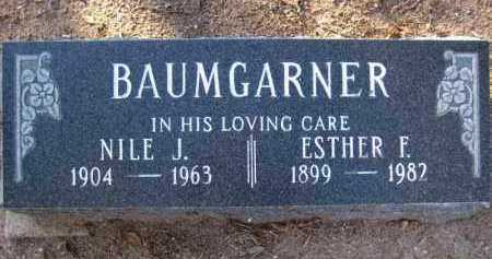 BAUMGARNER, NILE / NILEY JAMES - Yavapai County, Arizona | NILE / NILEY JAMES BAUMGARNER - Arizona Gravestone Photos