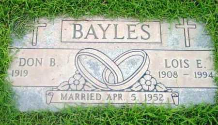 BAYLES, DON B. - Yavapai County, Arizona | DON B. BAYLES - Arizona Gravestone Photos