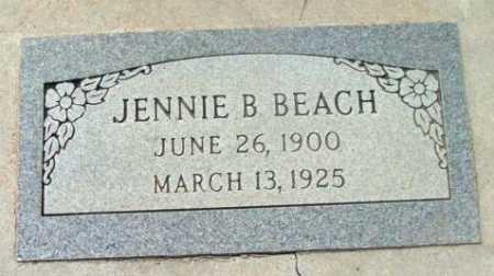 BEACH, JENNIE B. - Yavapai County, Arizona | JENNIE B. BEACH - Arizona Gravestone Photos