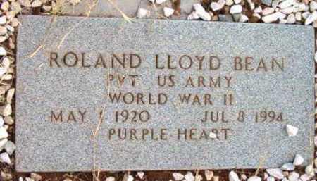 BEAN, ROLAND LLOYD - Yavapai County, Arizona | ROLAND LLOYD BEAN - Arizona Gravestone Photos