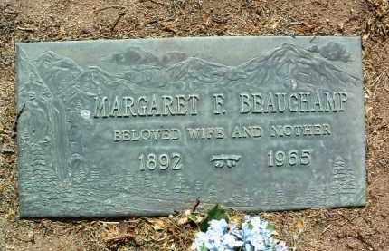 BEAUCHAMP, MARGARET F. - Yavapai County, Arizona | MARGARET F. BEAUCHAMP - Arizona Gravestone Photos