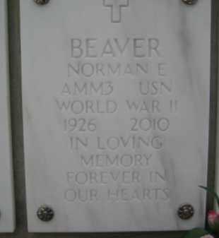 BEAVER, NORMAN E - Yavapai County, Arizona | NORMAN E BEAVER - Arizona Gravestone Photos
