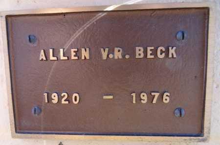 BECK, ALLEN V. R. - Yavapai County, Arizona | ALLEN V. R. BECK - Arizona Gravestone Photos