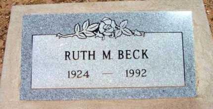 BECK, RUTH M. - Yavapai County, Arizona | RUTH M. BECK - Arizona Gravestone Photos