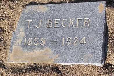 BECKER, THOMAS JAY - Yavapai County, Arizona | THOMAS JAY BECKER - Arizona Gravestone Photos