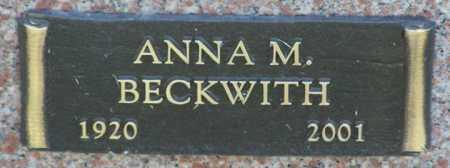 BECKWITH, ANNA M. - Yavapai County, Arizona   ANNA M. BECKWITH - Arizona Gravestone Photos