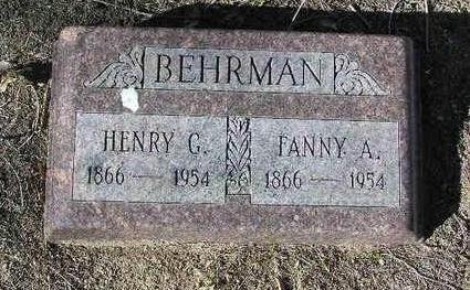 BEHRMAN, FANNY A. - Yavapai County, Arizona | FANNY A. BEHRMAN - Arizona Gravestone Photos