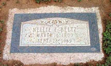 BELTZ, NELLIE FRANCES - Yavapai County, Arizona   NELLIE FRANCES BELTZ - Arizona Gravestone Photos