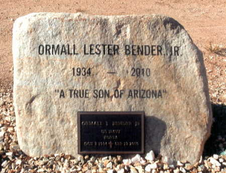 BENDER, ORMALL LESTER (LES) - Yavapai County, Arizona | ORMALL LESTER (LES) BENDER - Arizona Gravestone Photos