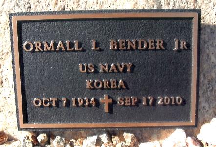 BENDER, ORMALL LESTER (LES) - Yavapai County, Arizona | ORMALL LESTER (LES) BENDER - Arizona Gravestone Photos