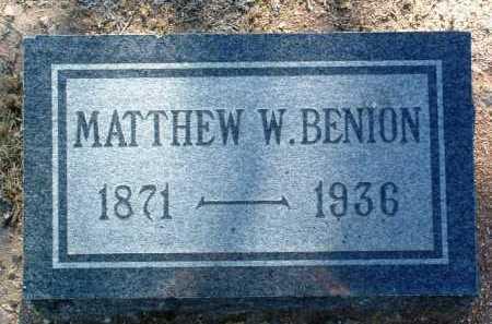 BENION, MATTHEW WILLIAM - Yavapai County, Arizona   MATTHEW WILLIAM BENION - Arizona Gravestone Photos