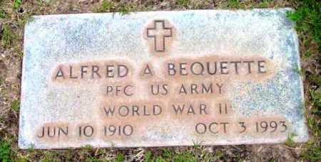 BEQUETTE, ALFRED A. - Yavapai County, Arizona | ALFRED A. BEQUETTE - Arizona Gravestone Photos