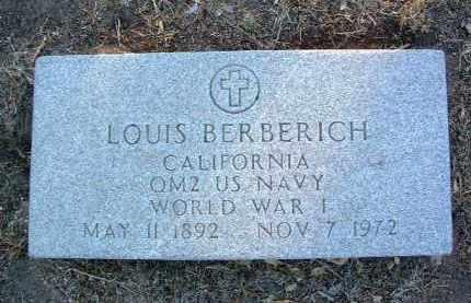 BERBERICH, LOUIS - Yavapai County, Arizona | LOUIS BERBERICH - Arizona Gravestone Photos