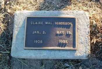 BERGESON, CLAIRE MAE - Yavapai County, Arizona   CLAIRE MAE BERGESON - Arizona Gravestone Photos