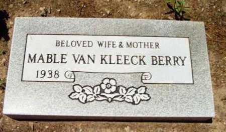 BERRY, MAVEL VAN KLEECK - Yavapai County, Arizona | MAVEL VAN KLEECK BERRY - Arizona Gravestone Photos