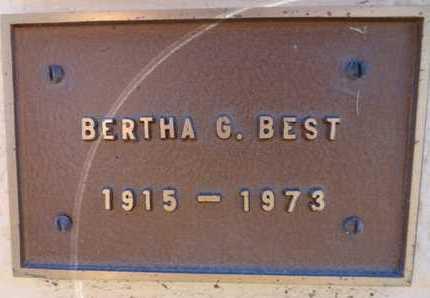 MAXWELL BEST, BERTHA G. - Yavapai County, Arizona | BERTHA G. MAXWELL BEST - Arizona Gravestone Photos