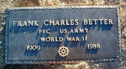 BETTER, FRANK CHARLES - Yavapai County, Arizona | FRANK CHARLES BETTER - Arizona Gravestone Photos